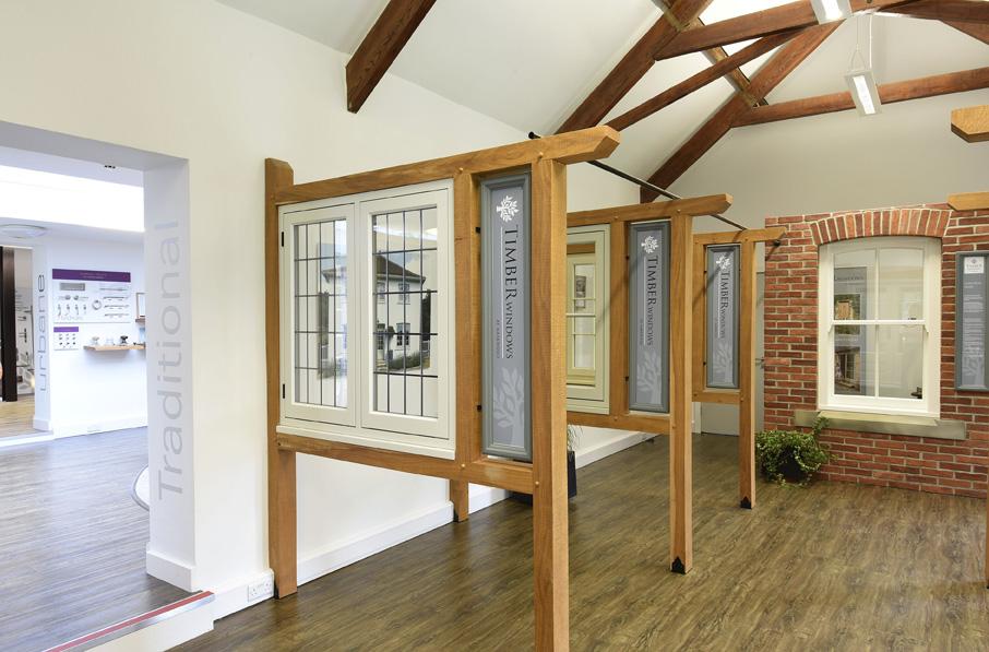 timber windows at harewood interior